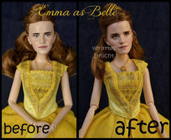 repainted ooak emma watson as belle. by verirrtesIrrlicht