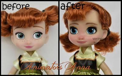 repainted ooak mini animators anna doll. by verirrtesIrrlicht