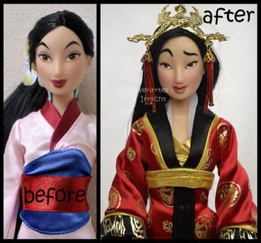 repainted ooak classic mulan doll. by verirrtesIrrlicht