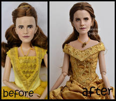 repainted ooak classic emma watson as ball belle. by verirrtesIrrlicht
