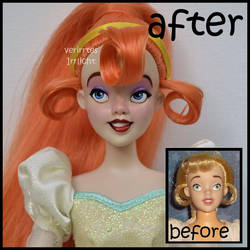 repainted ooak vintage thumbelina doll. by verirrtesIrrlicht