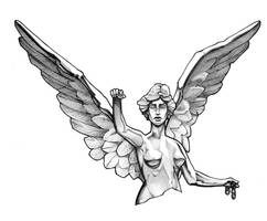 Angel of Independence Tattoo Design by RandomCushing