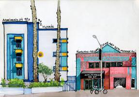 Los Angeles Adventure Drawing, Part 1 by RandomCushing