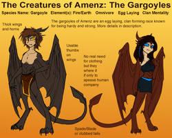 Creatures of Amenz: GARGOYLES by CoffeeAddictedDragon