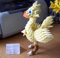 Chocobo - 3D Origami by o0DreamMyst0o
