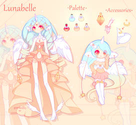 . Mascot: Lunabelle Reference . by fawnbun
