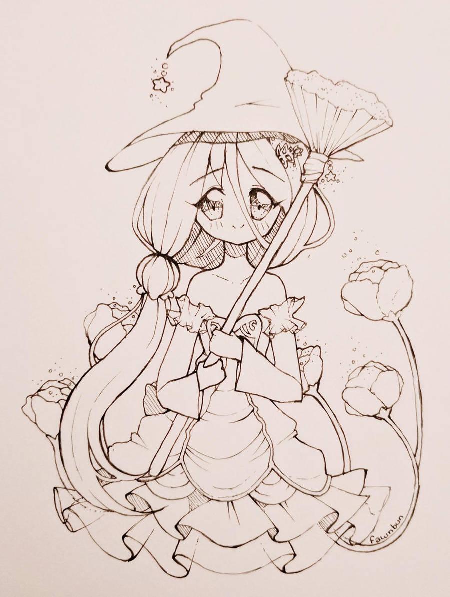 Day 1 : Witch by fawnbun
