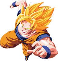 Goku ssj vector by ficdogg