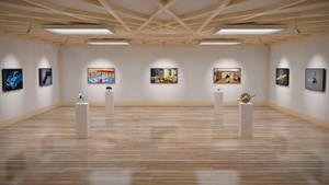 Art Gallery in Cinema 4D by ficdogg
