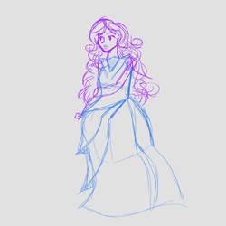 0048 Indigo Ball Gown by NiveusSol