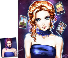 Tarot lady /commission/ by tiigroid
