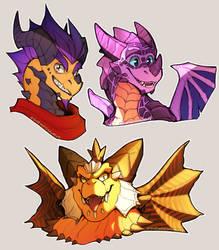 Dragon Daddies by shrimposaurus