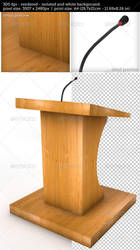 Tribune or Podium for Sermons Isolated by oilusionista-stock