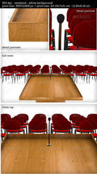 Podium on White Background with Chairs by oilusionista-stock