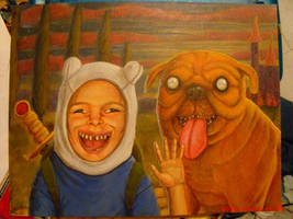 Finn and Jake frome Adventure Time by dtigerart