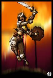 Clockwork Warrior by kildeh