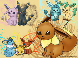 Eeveelutions by Isi-Daddy