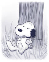 CM - Snoopy and Woodstock by Isi-Daddy