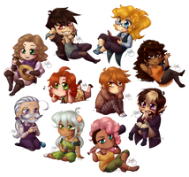 Chibi Batch - GoE Characters by Isi-Daddy