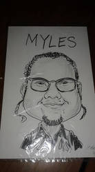 Me in caricature style by mylesterlucky7