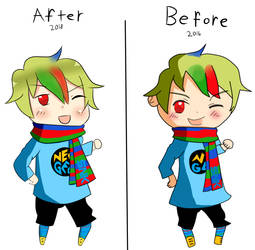 NeoGeo Redraw Before and After by Italy-PastaLove