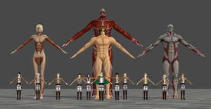 Attack on Titan models collection by TheForgottenSaint47
