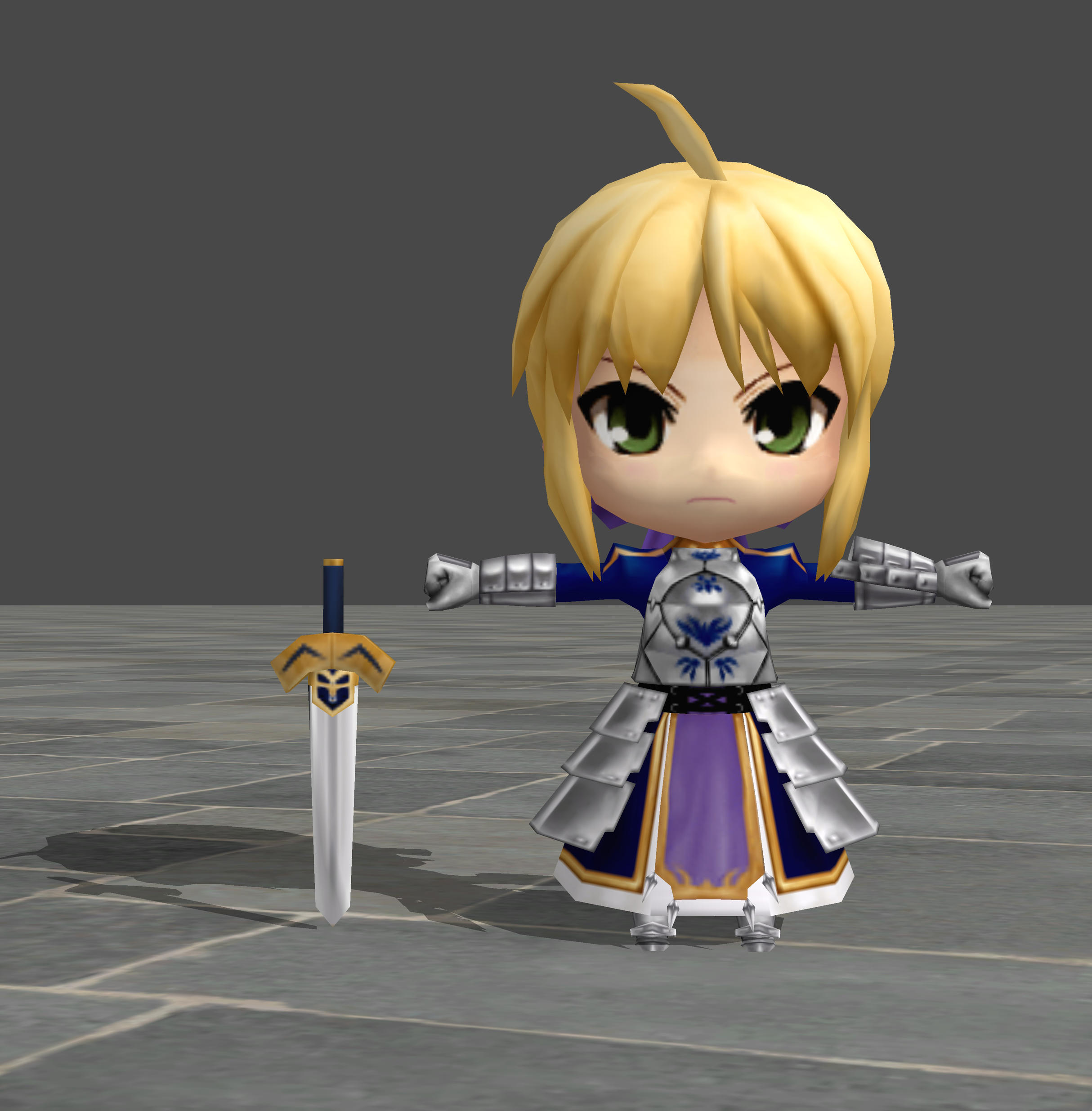 Saber - Nendoroid Generation [UPDATED] by TheForgottenSaint47
