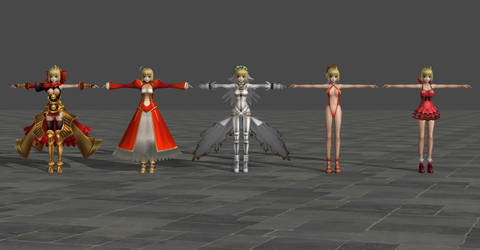 Saber pack - Fate Extra CCC by TheForgottenSaint47