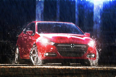 Dodge in the rain 2 by Jonathanjo