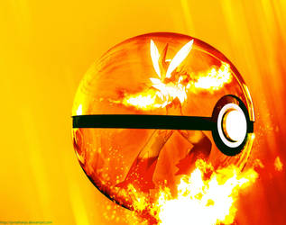 Mega-Blaziken Pokeball by Jonathanjo