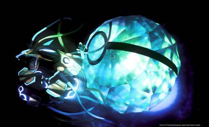 Pokeball of Rayoxys - Rayquaza + Deoxys fusion by Jonathanjo