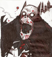 batman zombie by bizarronumber1
