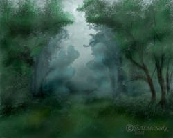 Green fog forest1 2019 by ALMcNelly