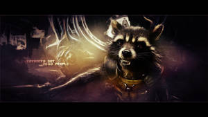 Rocket Raccoon wallpaper (5) by BiigM