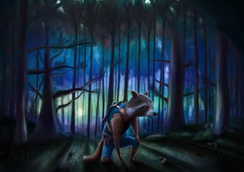 Rocket Raccoon - Digital drawing (4) by BiigM
