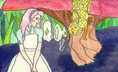 Alice in Wonderland Catepillar by insanellamagirl