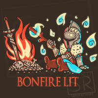 Dark Souls Bonfire Lit  shirt by SarahRichford
