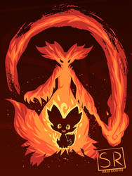 I Wanna be a Fire Mage Delphox - shirt design by SarahRichford