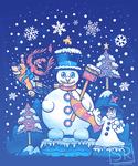 Freezy Winterland Banjo Kazooie shirt design by SarahRichford