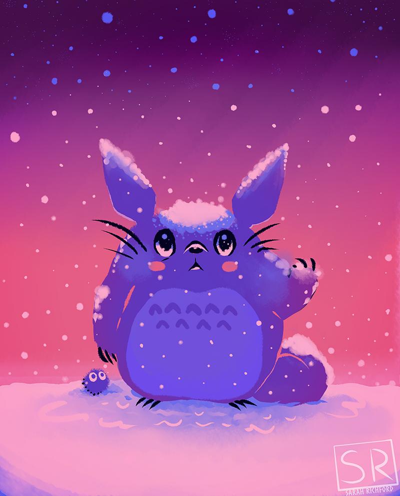 Snowy Winter Totoro by SarahRichford