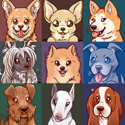 Doggo portraits Part 2 by SarahRichford
