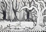 Inktober Day 4 - Deep in the Woods 31dayworldbuild by SarahRichford