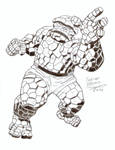 The Thing 60's Style - Jack Kirby Tribute by FabianBruno10