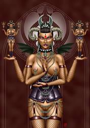 Gothic goddess by SleinadFlar