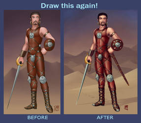 Draw This Again:  Swordsman by SleinadFlar