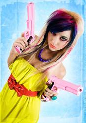 Loriel Andrea - Pink Guns 01 by destroyinc