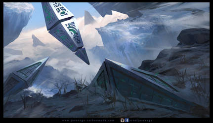 Frozen Mountain by artofjosevega