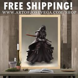 Samurai Vader Art Print by artofjosevega