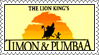 The Lion King's Timon and Pumbaa Stamp by LoveAnimeAndCartoons
