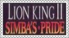 The Lion King II: Simba's Pride Stamp by LoveAnimeAndCartoons